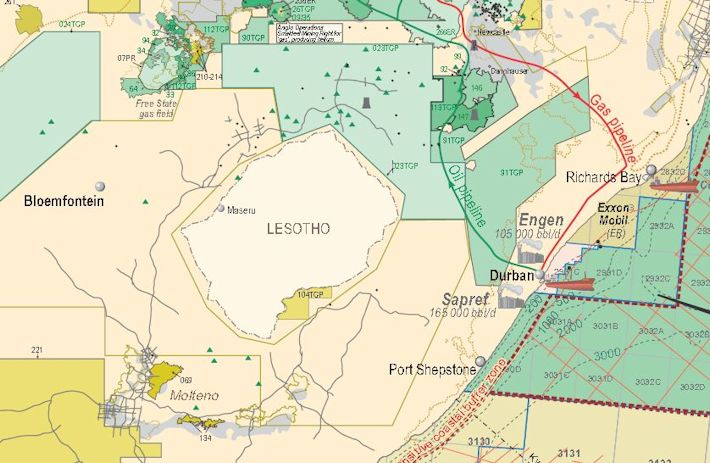 KZN fracking map